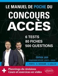 Le manuel de poche du concours Accès - Joachim Pinto |