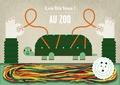 Joana Casals - Au zoo - Avec 16 lacets de couleur.