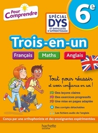 Joanna Le May et Valérie Viron - Trois-en-un 6e Français Maths Anglais.