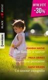 Joanna Wayne et Paula Graves - Une famille à sauver ; Dangereuse promesse ; Un amour incognito.