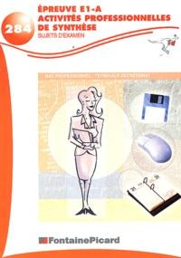 Deedr.fr Epreuve E1A Activités professionnelles de synthèse Bac professionnel Terminale secrétariat - Sujets d'examen Image