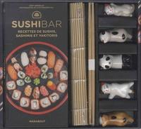 Jody Vassallo - La box kawaï Sushis bar - Avec des baguettes japonaises, des porte-baguette kawaï, une natte en bambou pour makis.