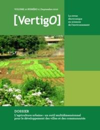Joe Nasr et Eric Duchemin - L'agriculture urbaine : un outil multidimensionnel pour le développement des villes et des communautés - VertigO.