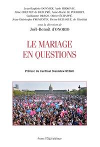 Le mariage en questions - Joël-Benoît d' Onorio | Showmesound.org