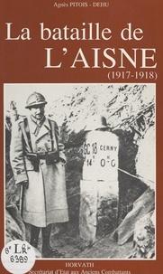 Joël Bongini et Agnès Pitois-Dehu - La bataille de l'Aisne - 1917-1918.