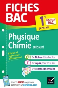 Joël Carrasco et Alexandra Chauvin - Fiches bac Physique-Chimie 1re générale (spécialité) - nouveau programme de Première.