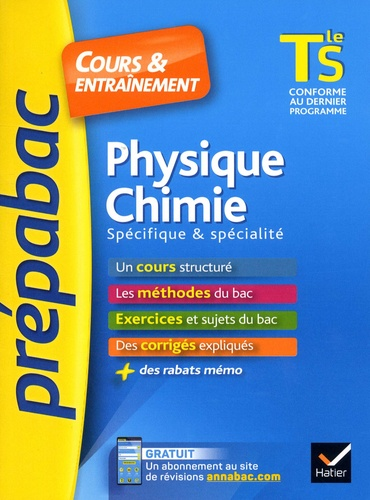 Physique-chimie Tle S spécifique & spécialité  Edition 2018