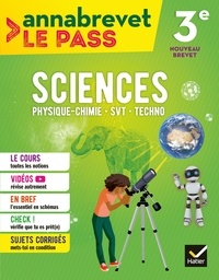 Joël Carrasco et Gaëlle Cormerais - Sciences (SVT, physique-chimie, technologie) 3e brevet 2018.
