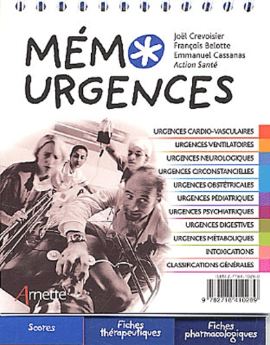 Joël Crevoisier et François Belotte - Mémo urgences.