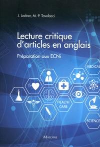 Lecture critique d'articles en anglais- Préparation aux ECNi - Joël Ladner pdf epub