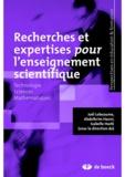 Joël Lebeaume et Abdelkrim Hasni - Recherches et expertises pour l'enseignement scientifique.