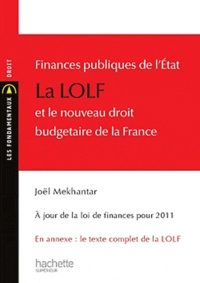 Histoiresdenlire.be Finances publiques de l'état : la LOLF et le nouveau droit budgétaire de la France Image