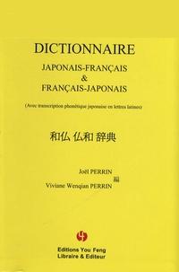Joël Perrin et Viviane Wenqian Perrin - Dictionnaire japonais-français & français-japonais - (Avec transcription phonétique japonaise en lettres latines).