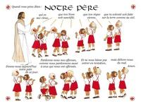 Joëlle d' Abbadie - Poster Notre Père.