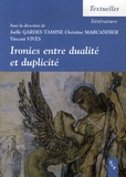 Joëlle Gardes Tamine - Ironies entre dualité et duplicité.