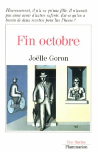 Joëlle Goron - Littérature française  : Fin octobre.