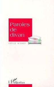 Joëlle Mignot - Paroles de divan.