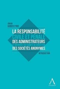 Accentsonline.fr La responsabilité civile et pénale des administrateurs et membres du Comité de direction des sociétés anonymes Image