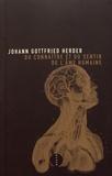 Johann-Gottfried Herder - Du connaître et du sentir de l'âme humaine - Observations et rêves.