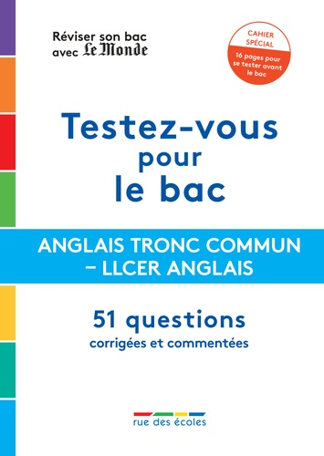Anglais - LLCR Anglais Terminale  Edition 2021