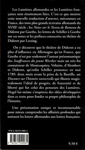 Ecrits sur les Lumières et la philosophie de l'histoire