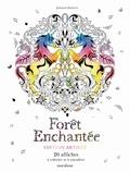 Johanna Basford - Forêt enchantée - 20 affiches à colorier et à encadrer.