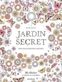 Johanna Basford - Jardin secret - 20 affiches à colorier et à encadrer.