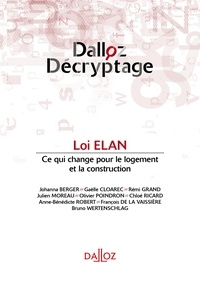 Johanna Berger et Gaëlle Cloarec - La loi ELAN.