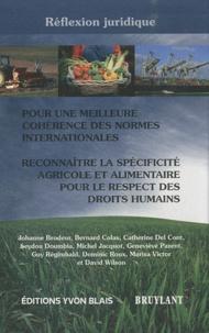 Deedr.fr Pour une meilleure cohérence des normes internationales - Reconnaître la spécificité agricole et alimentaire pour le respect des droits humains Image