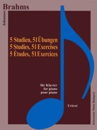 Deedr.fr Brahms 5 études et 51 exercices - pour piano - Partition Image