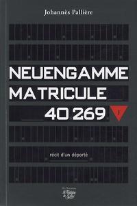 Johannès Pallière - Neuengamme - Matricule 40269.