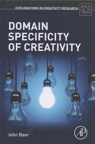 John Baer - Domain Specificity of Creativity.