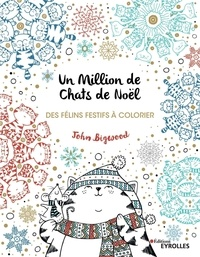 John Bigwood - Un million de chats de Noël - Des félins festifs à colorier.