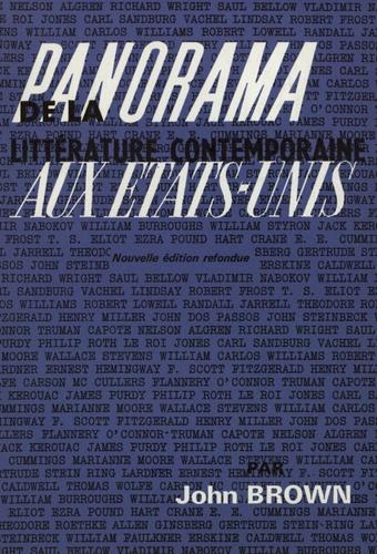 John Brown - Panorama de la littérature contemporaine aux Etats-Unis.