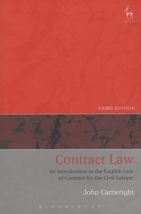 John Cartwright - Contract Law - An Introduction to the English Law of Contract for the Civil Lawyer.