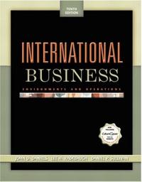 John-D Daniels et Lee-H Radebaugh - International business - Environnements and operations, international edition, tenth edition.