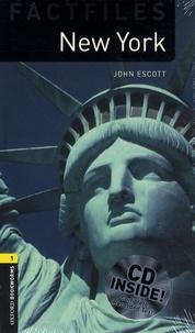 John Escott - New York. 1 CD audio