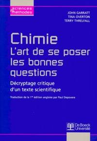 Goodtastepolice.fr Chimie, l'art de se poser les bonnes questions. Décryptage critique d'un texte scientifique Image