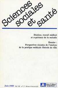 Isabelle Baszanger - Sciences Sociales et Santé Volume 7 N° 2, Juin : Perspectives récentes de l'analyse de la pratique médicale libérale de ville.