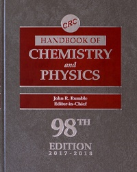 John R Rumble - CRC Handbook of Chemistry and Physics.