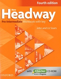 John Soars et Liz Soars - New Headway Pre-intermediate Workbook with key. 1 Cédérom