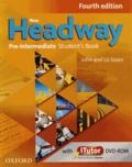 John Soars et Liz Soars - New Headway Pre-Intermediate - 2 volumes : Student's Book & French Wordlist. 1 DVD