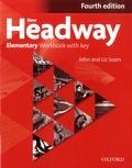 John Soars et Liz Soars - New Headway - Elementary Workbook with key.