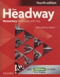 John Soars et Liz Soars - New Headway - Elementary Workbook with key. 1 Cédérom