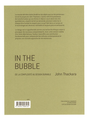 John Thackara - In the Bubble - De la complexité au Design durable.