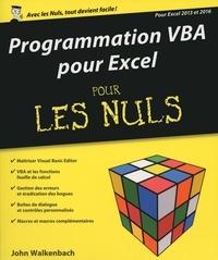 John Walkenbach - Programmation VBA pour Excel 2013 et 2016 pour les nuls.