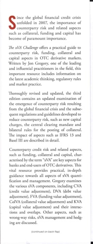 The xVA Challenge. Counterparty Credit Rick, Funding, Collateral and Capital