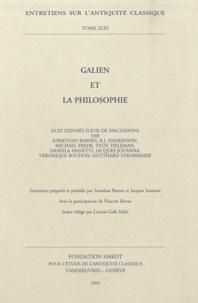 Jonathan Barnes et Jacques Jouanna - Galien et la philosophie.