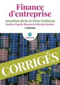 Jonathan Berk et Peter DeMarzo - Finance d'entreprise - Corrigés.