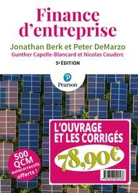 Jonathan Berk et Peter DeMarzo - Finance d'entreprise - 2 volumes : l'ouvrage et les corrigés.